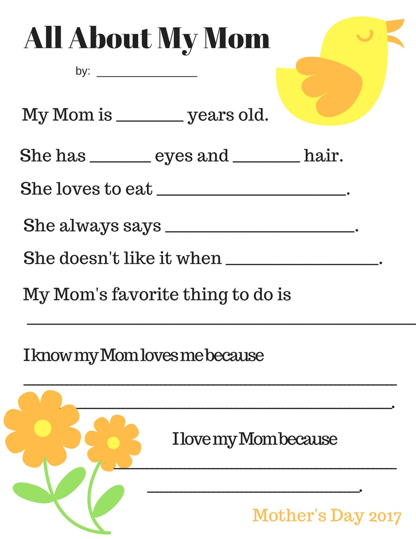 photograph about Mother's Day Questionnaire Printable identified as Purple Chickpea: Free of charge Printable: Moms Working day Questionnaire