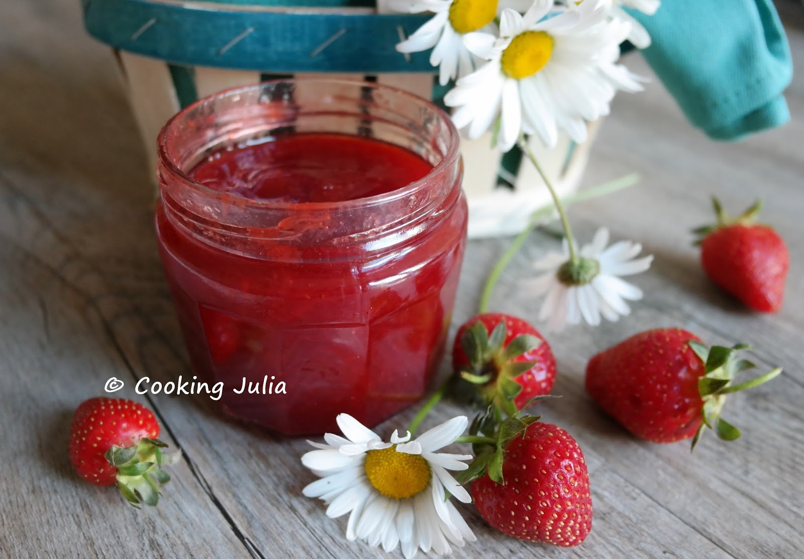 confiture de fraise cooking julia