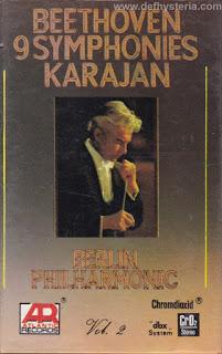 Ludwig Van Beethoven & Herbert Von Karajan - Beethoven 9 Symphonies Karajan Berlin Philharmonic Vol. 2 Audio Kaset Atlantic Records catnr. ARCC 004