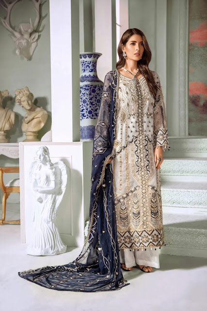 Maryum n Maria Embroidered Chiffon Organza Net Collection 2020 Price and Buy Online