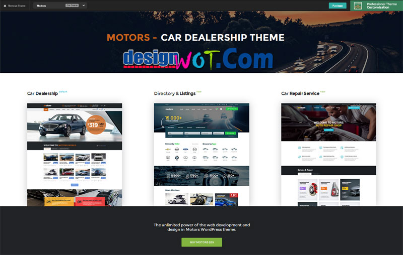 MOTORS Classified Ads WordPress Theme