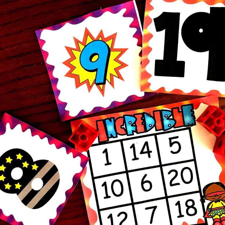 printable games for kids - number recognition board game