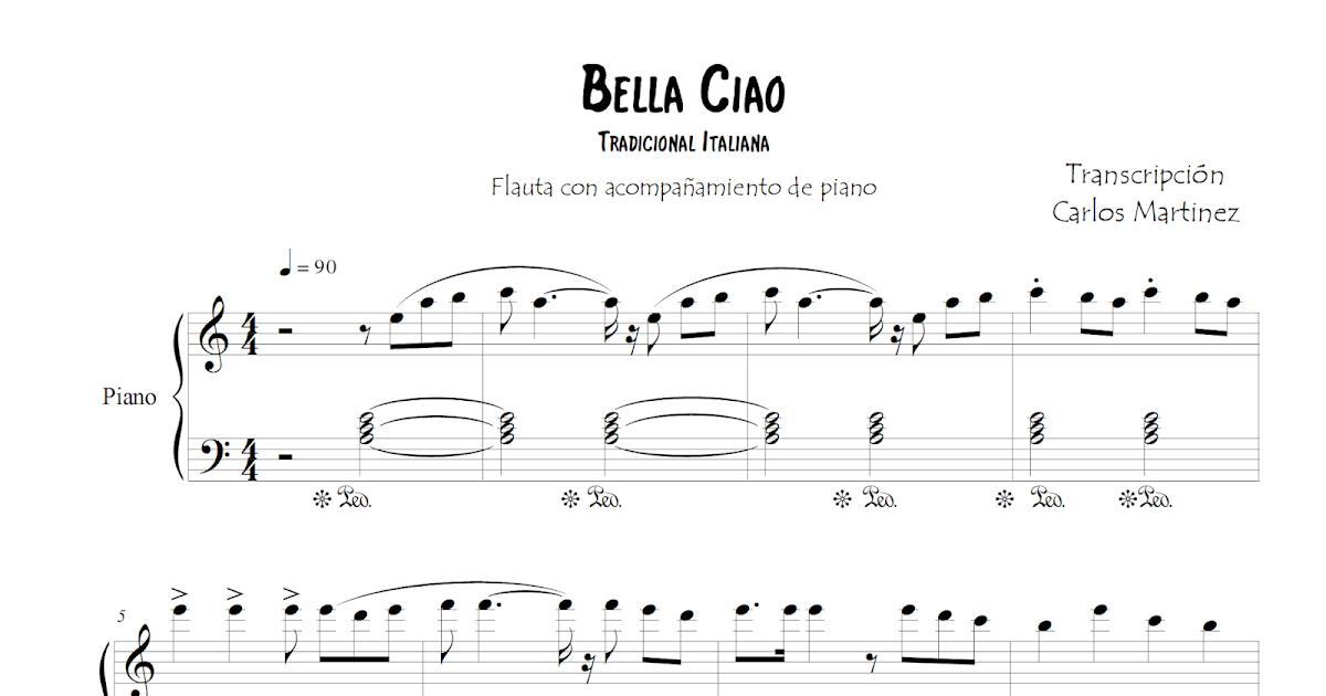 Diegosax Bella Ciao Partitura De Dúo De Piano Con Voz En Letra Flautas Saxofón Alto Saxofón Tenor Trompeta Violín Clarinete Oboe Solfeo Soprano Sax