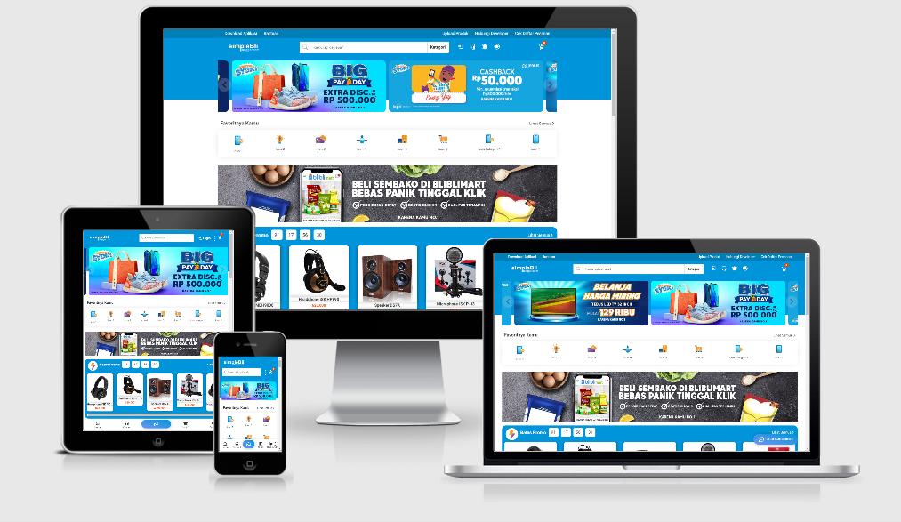 Template Jual Beli Online Gratis simpleBli Blogger Free Verson