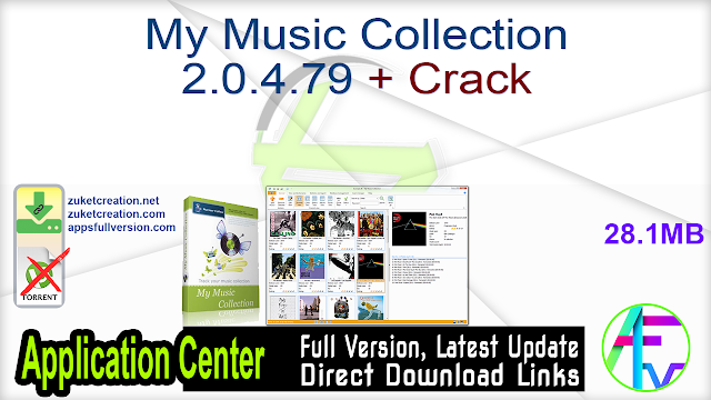 My Music Collection 2.0.4.79 + Crack