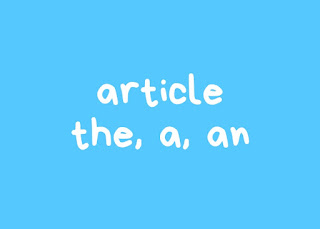 2 Jenis Article (Kata Sandang)