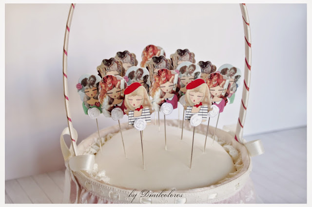 cesta alfileres boda