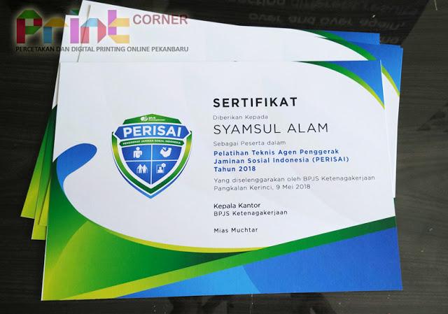 sertifikat di pekanbaru