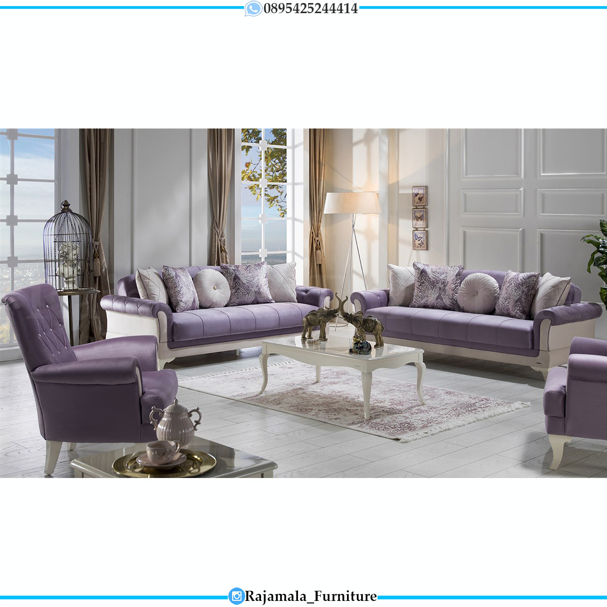 Sofa Minimalis Terbaru Luxury Set Furniture Jepara Kekinian RM-739