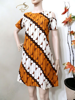 Dress Batik Parang Sabrina Orange