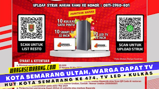Evet hut kota semarang ke 474 Th, Bapenda kota Semarang adakan evet,makan dapat tv led dan kulkas