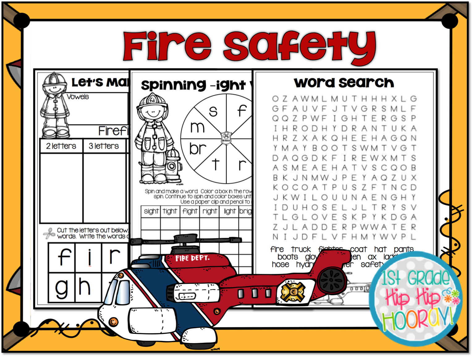 1st Grade Hip Hip Hooray October Is Fire Safety Month