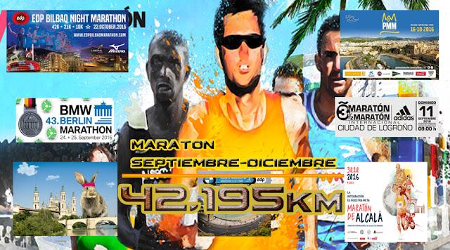 Las Maratones que vienen (SEP-DIC 2016)