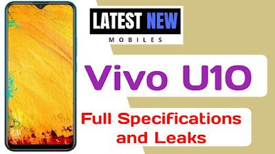 Vivo U10 full Specifications