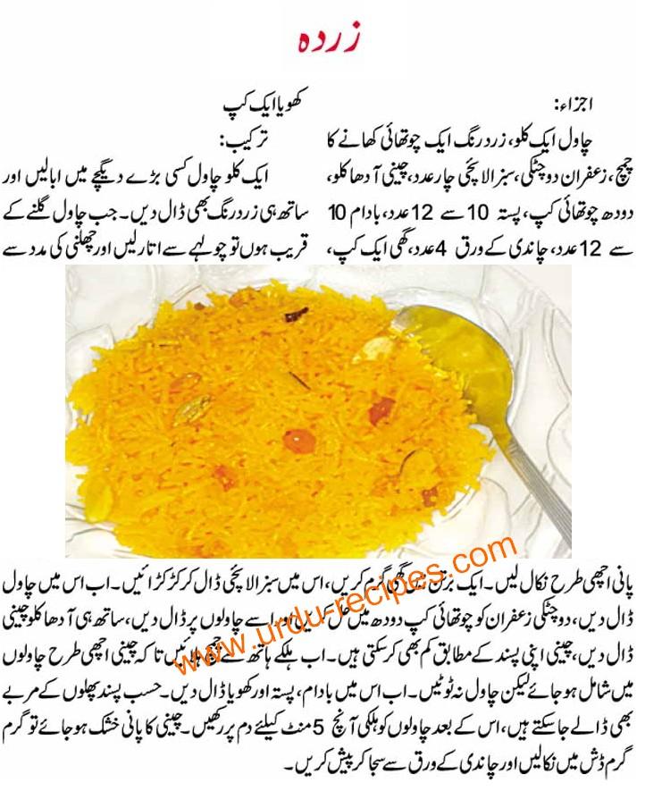 Fauzia Kitchen Recipes In Urdu