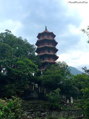 Temple Xiangde et pagode, parc national de Taroko Gorges, Hualien, Taiwan