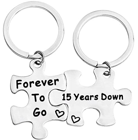 Puzzle Keychain Set For Husband And Wife