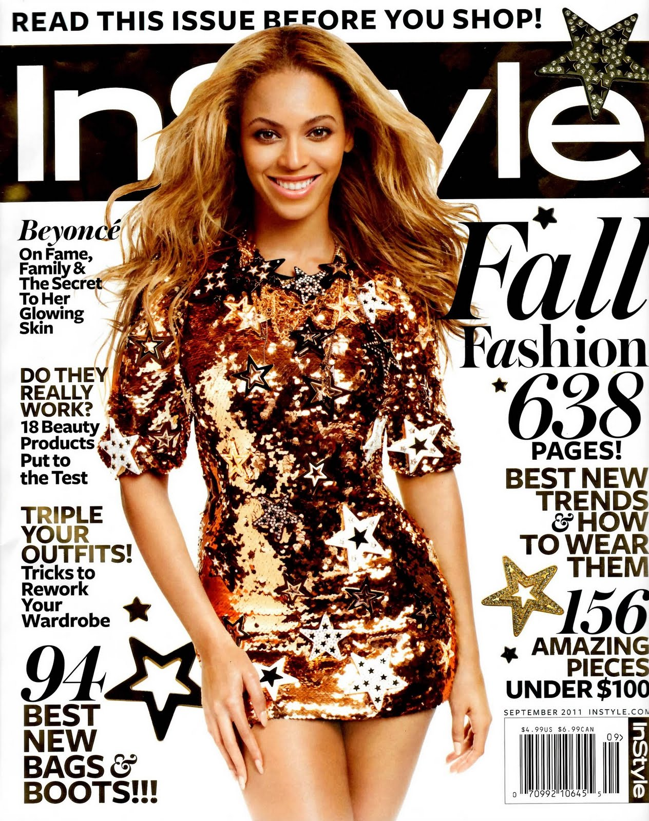 raw hollywood beyonce covers instyle magazine. Black Bedroom Furniture Sets. Home Design Ideas
