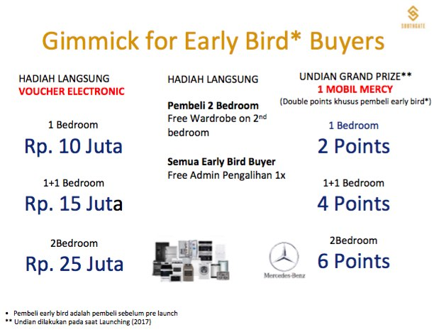 Southgate Simatupang Jakarta Apartment Early Buyer Gimmick