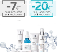 Logo La Roche-Posay:  sconto immediato da 7€ e da 20€