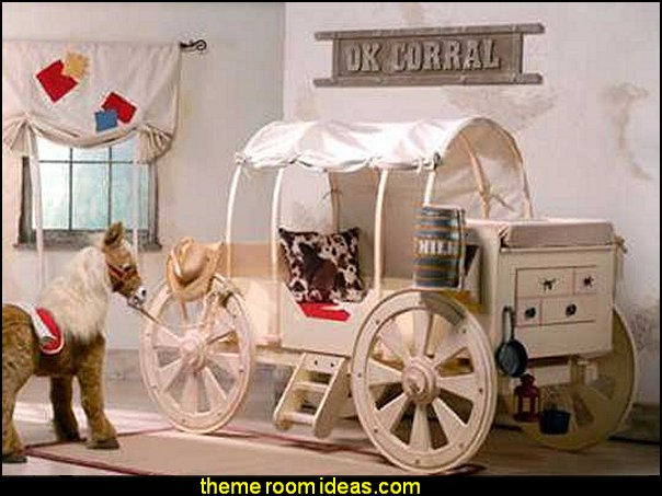 wagon trails theme bed    cowboy theme bedrooms - rustic western style decorating ideas - rustic decor - cowboy decor - Cowboy Bedding Western bedroom decor - horse decor - cowboy wall murals horse wall murals