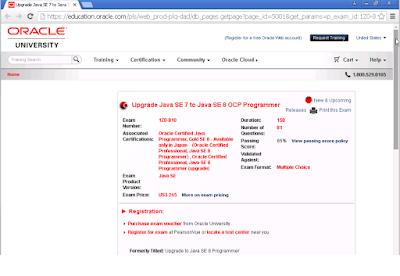 1Z0-810 OCPJP 8 Upgrade from OCPJP 7