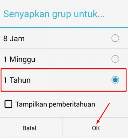 Cara Mematikan Nontifikasi Grub WhatsApp