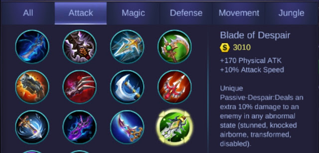 Build Item Terbaik Alucard Mobile Legends