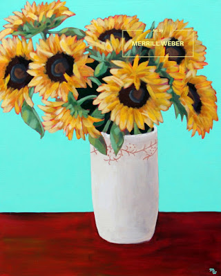 large-acrylic-sunflower-painting-merrill-weber