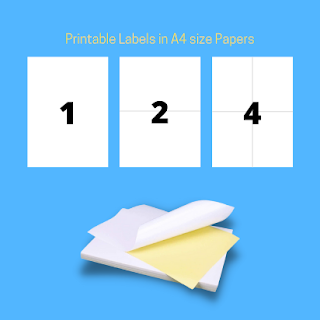 Printable A4 size sticker labels with pre cut