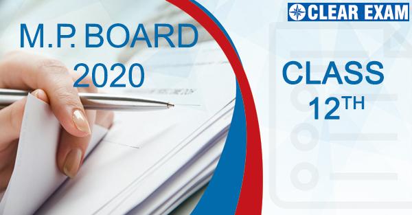 Class XII MP Board 2020