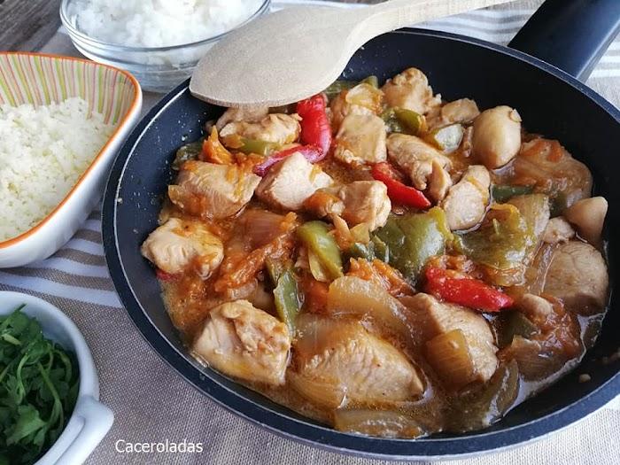 Pollo teriyaki con verduras - Receta fácil, ligera y muy sabrosa