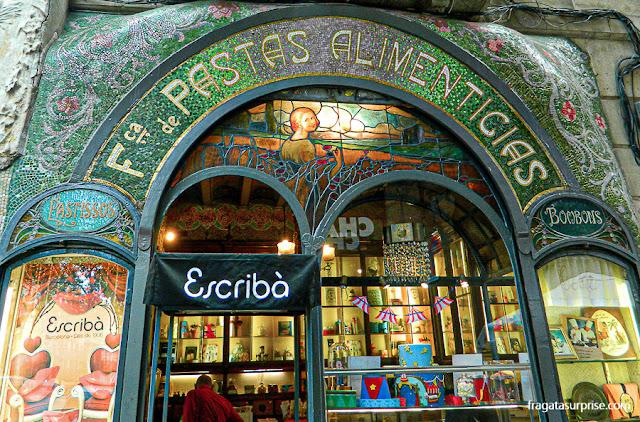 Pastelaria Escribà, nas Ramblas de Barcelona