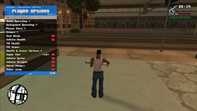 GTA San Andreas RZL Trainer Daily Builds New Update 4.0