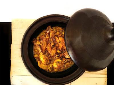 Tajine de pollo receta tradicional marroqui la cocinera novata aves cocina receta gastronomia guiso marruecos arabe oriental limon confitado aceitunas verdes cilantro
