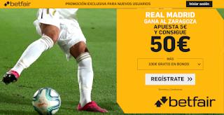 betfair supercuota copa Real Madrid gana Zaragoza 29 enero 2020