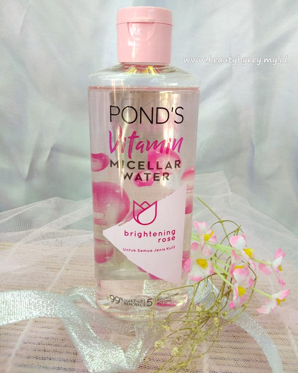Review Pond's Vitamin Micellar Water Brightening Rose - Beauty By Rey