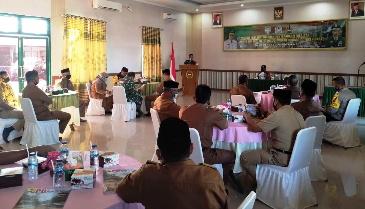 Bupati Aceh Barat Resmi Membuka Kegiatan TMMD Reg Ke-108 Kodim 0105/Abar