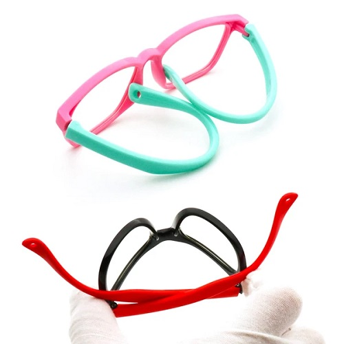 Flexible eyewear glasses for children with blue light protection
