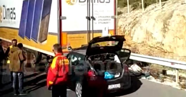 Θανατηφόρο τροχαίο στην Εθνική Οδό Αθηνών – Καλαμάτας (βίντεο)