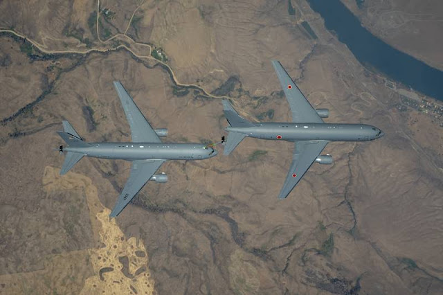 Boeing KC46A Japan first refueling