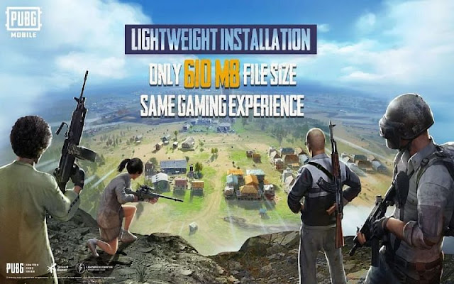 PUBG Mobile Lightweight Installation Function reduces file size to 610 MB