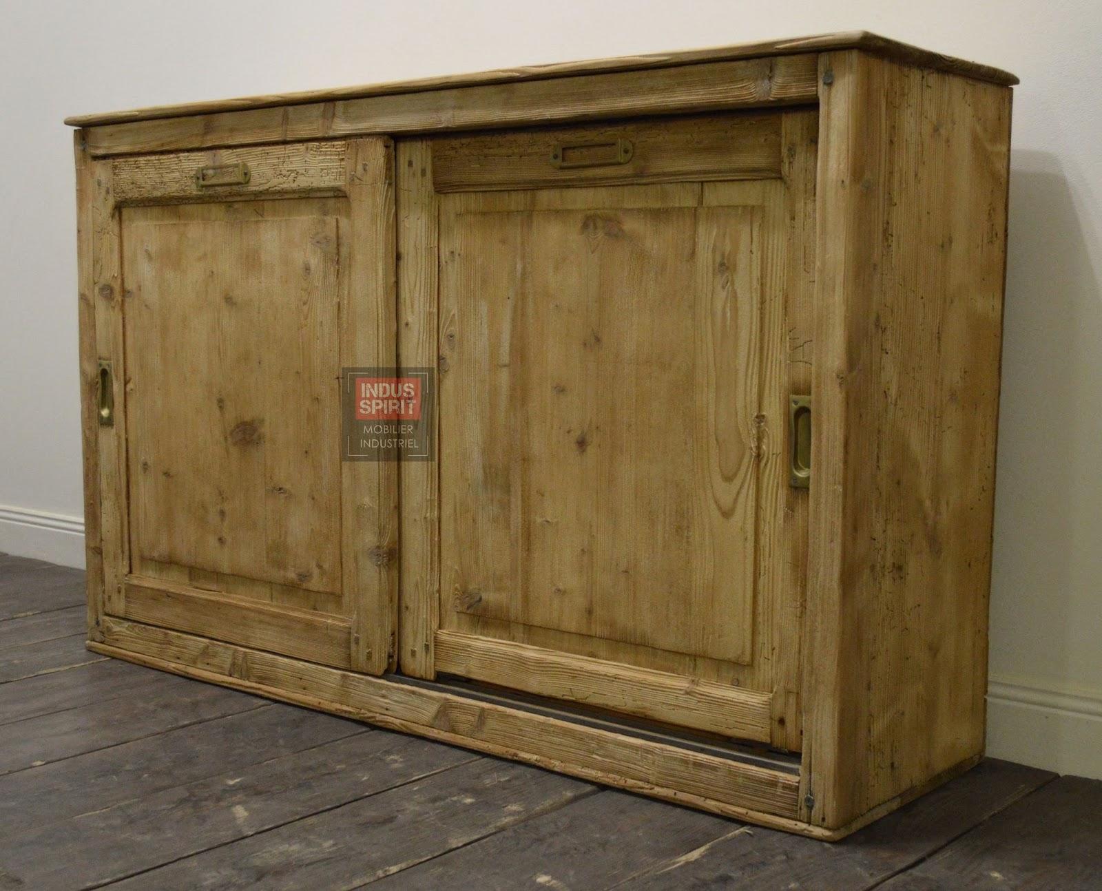 Ancien meuble de m tier porte coulissante for Meuble a porte coulissante