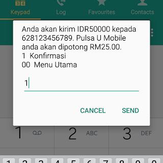 Cara kirim pulsa ke indonesia