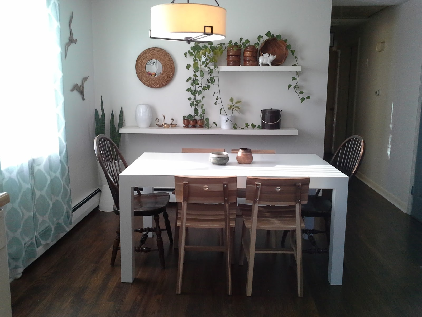 Lilly S Home Designs Skogsta Chairs And Parsons Dining