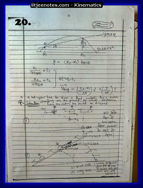 kinematics notes cbse4