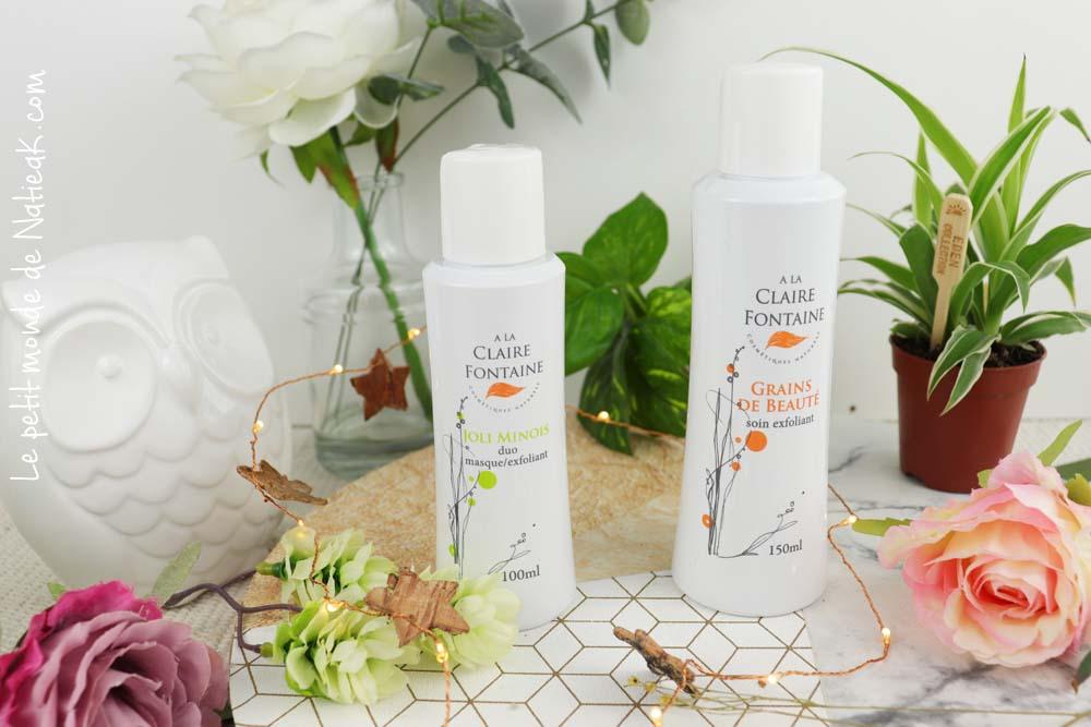 masque/exfoliant et soin exfoliant A la Claire Fontaine