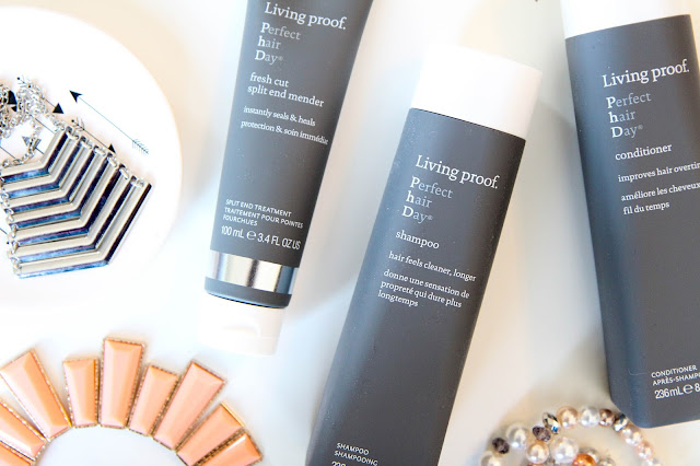 Living Proof Perfect hair Day Shampoo, Conditioner, fresh cut split end mender