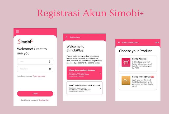 langkah registrasi akun rekening online sinarmas
