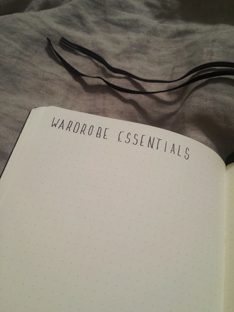 2017 Bullet Journal Wardrobe Essentials